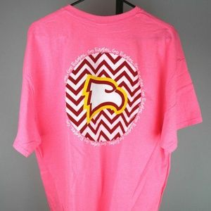 Tops - Winthrop Eagles Chevron T-Shirt (Safety Pink)